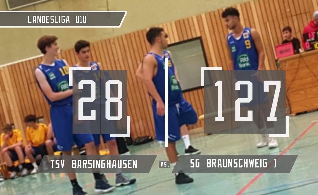 Die U18-1 gewinnt beim TSV Barsinghausen