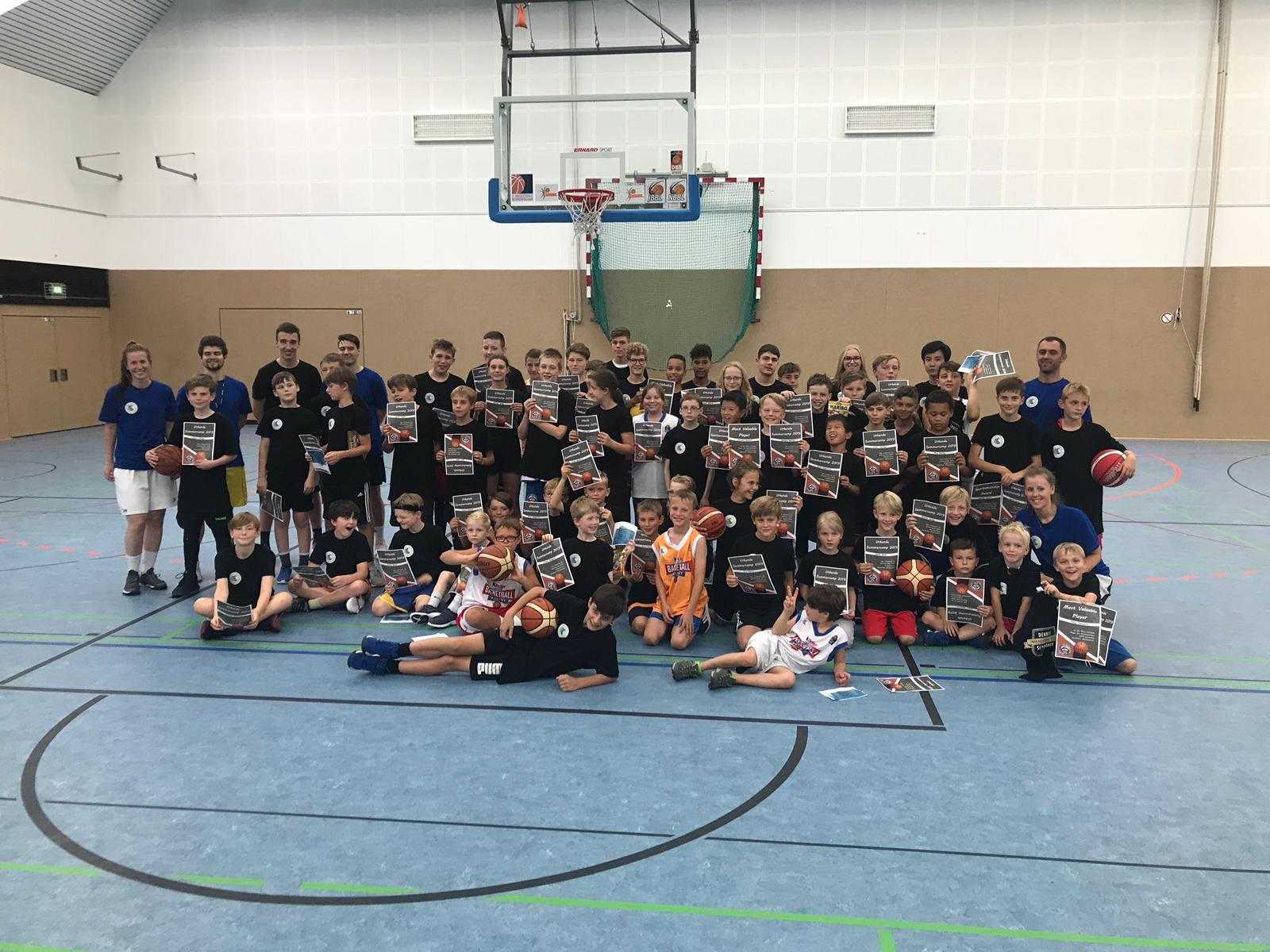 Gelungenes Basketballcamp in den Sommerferien